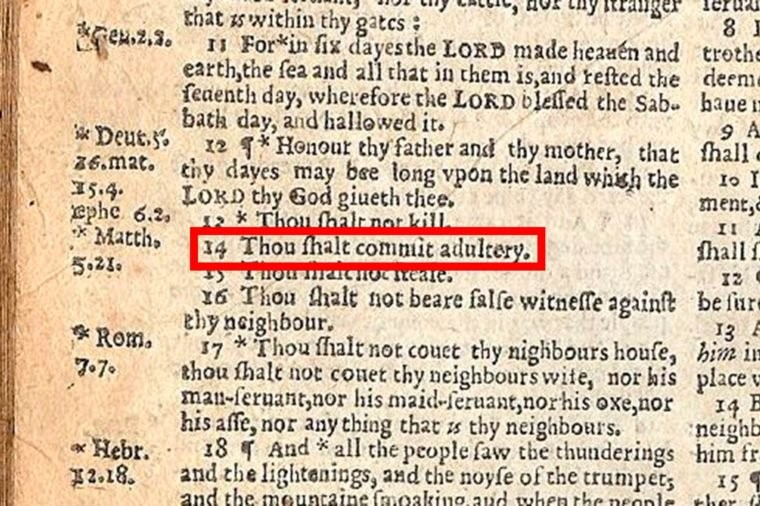 thou shall commit adultery